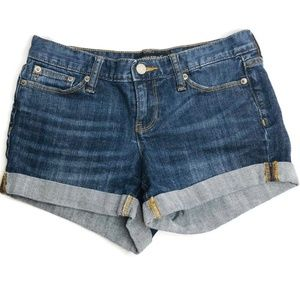 Banana Republic Dark Wash Cuffed Jean Shorts